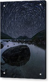 Star Trails Over Jordan Pond Acrylic Print