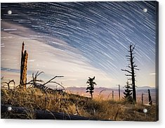 Star Trails Over Mt. Graham Acrylic Print