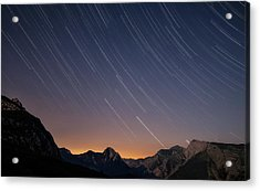 Star Trails Over The Apuan Alps Acrylic Print