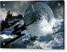 Star Trek Into Darkness, Original Mixed Media Acrylic Print by Thomas Pollart