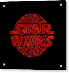 Star Wars Art - Logo - Red Acrylic Print