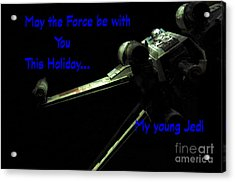 Star Wars Birthday Card 5 Acrylic Print by Micah May