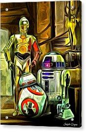Star Wars Droid Family Acrylic Print by Leonardo Digenio