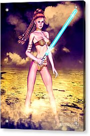 Star Wars Inspired Fantasy Pin-up Girl Acrylic Print