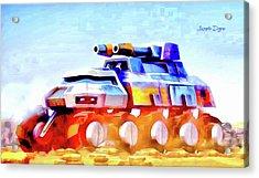 Star Wars Rebel Army Armor Vehicle - Aquarell Vivid Style Acrylic Print