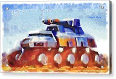 Star Wars Rebel Army Armor Vehicle  - Watercolor Wet Style -  - Da Acrylic Print