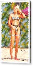 Star Wars Sex Slave  - Watercolor Style -  - Da Acrylic Print by Leonardo Digenio