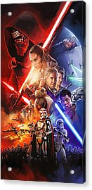 Acrylic Print featuring the painting Star Wars The Force Awakens Artwork by Sheraz A