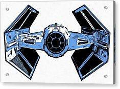 Star Wars Tie Fighter Advanced X1 Acrylic Print by Edward Fielding