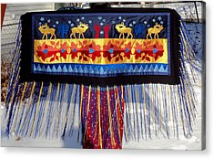 Acrylic Print featuring the tapestry - textile Star Whistling by Chholing Taha