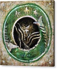 Starbucks Acrylic Print by Antonio Ortiz