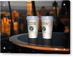 Starbucks At The Top Acrylic Print by David Lee Thompson