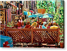Starbucks Cafe On Monkland Montreal Cityscene Acrylic Print