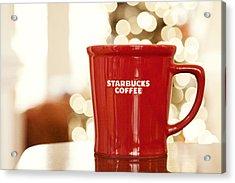 Starbucks Coffee Acrylic Print by Kim Fearheiley