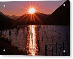 Starburst Sunrise - Earthquake Lake 005 Acrylic Print