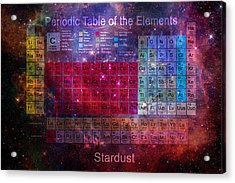 Stardust Periodic Table Acrylic Print
