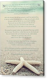 Starfish Make A Difference Vintage Set 1 Acrylic Print