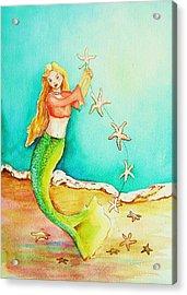 Starfish Mermaid Acrylic Print by Patricia Piffath