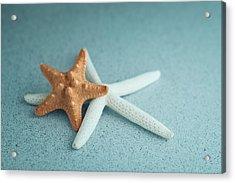 Starfish On Aqua Acrylic Print
