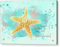 Acrylic Print featuring the photograph Starfish Wishes by Darren Fisher