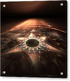 Acrylic Print featuring the digital art Stargate by Richard Ortolano