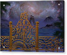 Stargate-temple-galaxy Acrylic Print by Terry Anderson