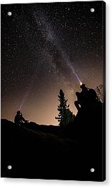 Stargazing At The Cascades With Dave Acrylic Print