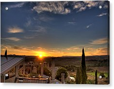 Starise At Arcosanti Acrylic Print by William Wetmore