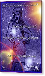 Starlight Of Space And Time Stellar1 Acrylic Print