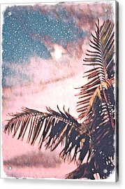 Starlight Palm Acrylic Print