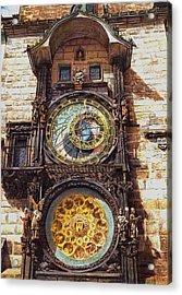 Staromestsky Orloj Acrylic Print by Gordana Dokic Segedin