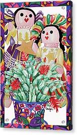 Starring The Christmas Cactus Acrylic Print