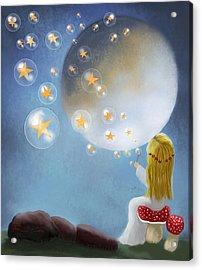 Starry Bubbles By Sannel Larson Acrylic Print