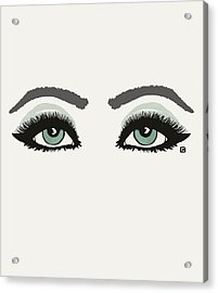 Acrylic Print featuring the painting Starry Eyed by Lisa Weedn