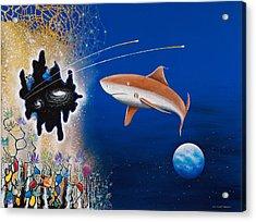 Starry Eyed Shark Acrylic Print by Lee Pantas