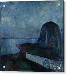 Starry Night By Edvard Munch Acrylic Print by Esoterica Art Agency