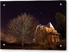 Starry Night Farmhouse Acrylic Print