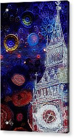 Starry Night In London Acrylic Print