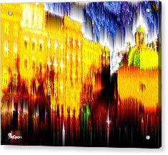 Starry Night In Prague Acrylic Print