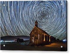 Starry Night Over Bodie Church Acrylic Print
