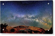 Starry Night Over Mesa Arch Acrylic Print
