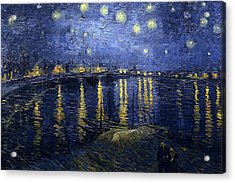 Starry Night Over The Rhone Acrylic Print by Vincent Van Gogh