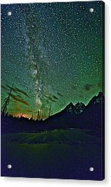 Starry Night Over The Tetons Acrylic Print
