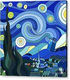 Starry Night Tardis Acrylic Print