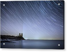 Starry Reculver Acrylic Print