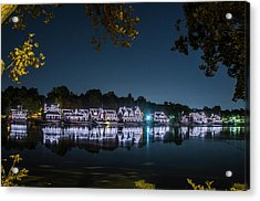 Starry Skies Over Boathouse Row Acrylic Print