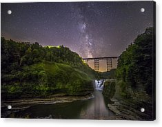 Starry Sky At Letchworth Acrylic Print