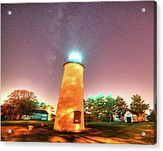Starry Sky Over The Newburyport Harbor Light Acrylic Print