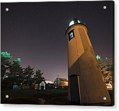 Starry Sky Over The Newburyport Harbor Light Window Acrylic Print by Toby McGuire