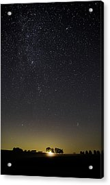 Acrylic Print featuring the photograph Starry Sky Over Virginia Farm by Lori Coleman